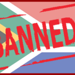 Banned from South Africa