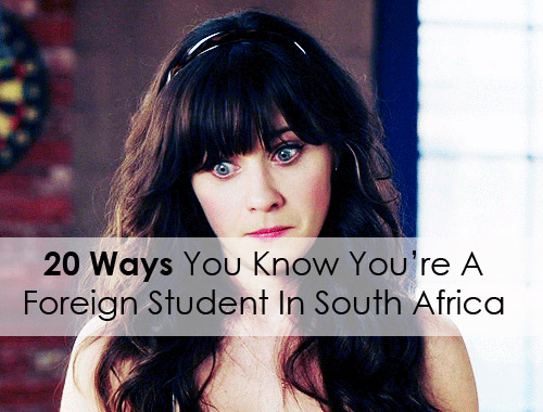 foreign student in South Africa
