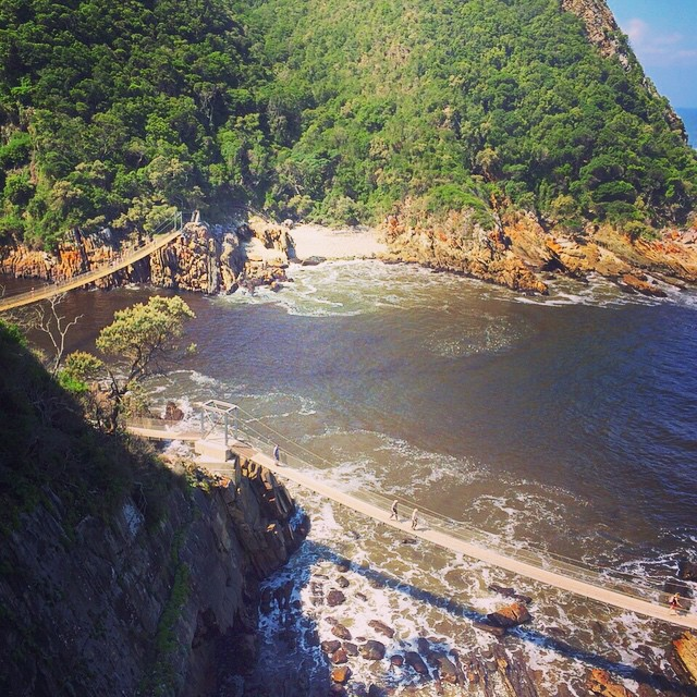 10. If you've always wanted to hike the Tsitsikamma but felt the Otter Trail was too daunting, then the Dolphin trail might be for you. The luxury three night hike allows travelers to see the Garden Route in style (and less a heavy backpack), an alluring proposal for those more fond of slackpacking. The iconic Storms River bridge is but one of many striking landmarks boasted by the route. Other attractions include the wide variety of fauna, flora, and hopefully, dolphins, that can be seen along the trail.