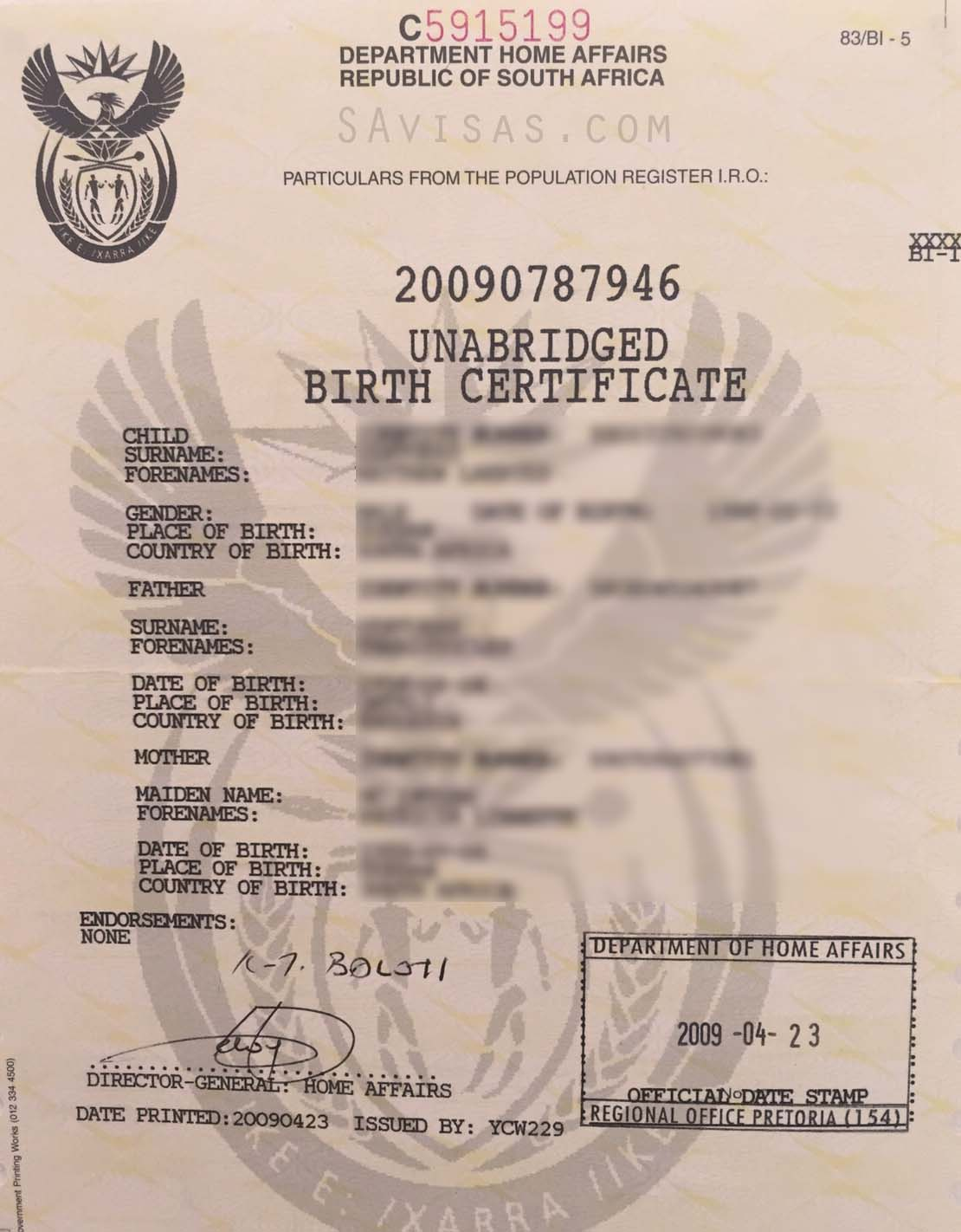 unabridged birth certificate sample image collections