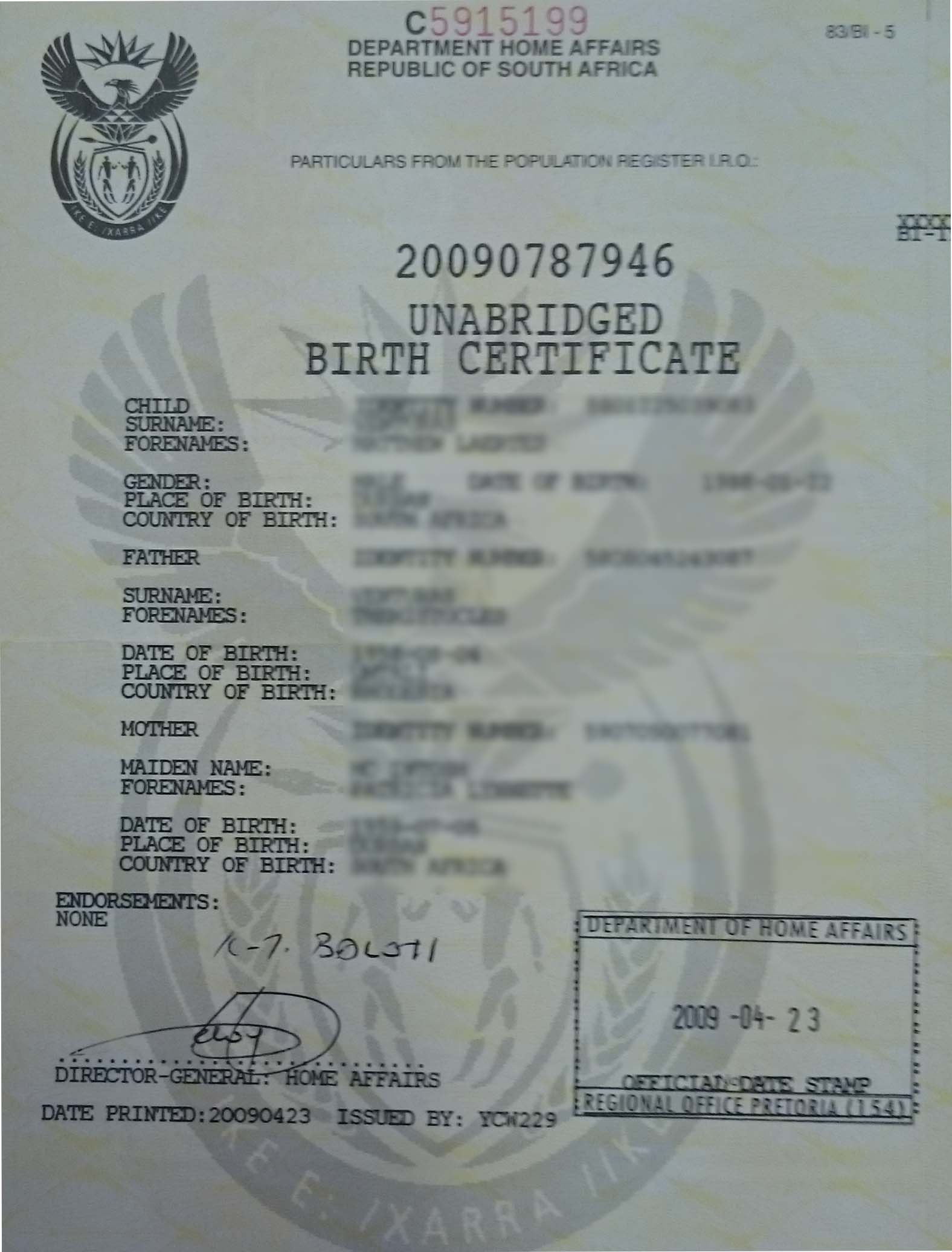 Unabridged birth certificate savisas unabridged birth certificate aiddatafo Gallery