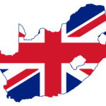Uk Flag in the shape of South Africa