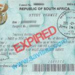 An expired study visa