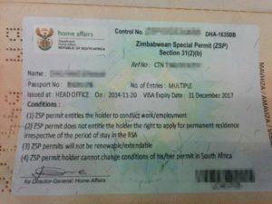 Zimbabwean Special Permit